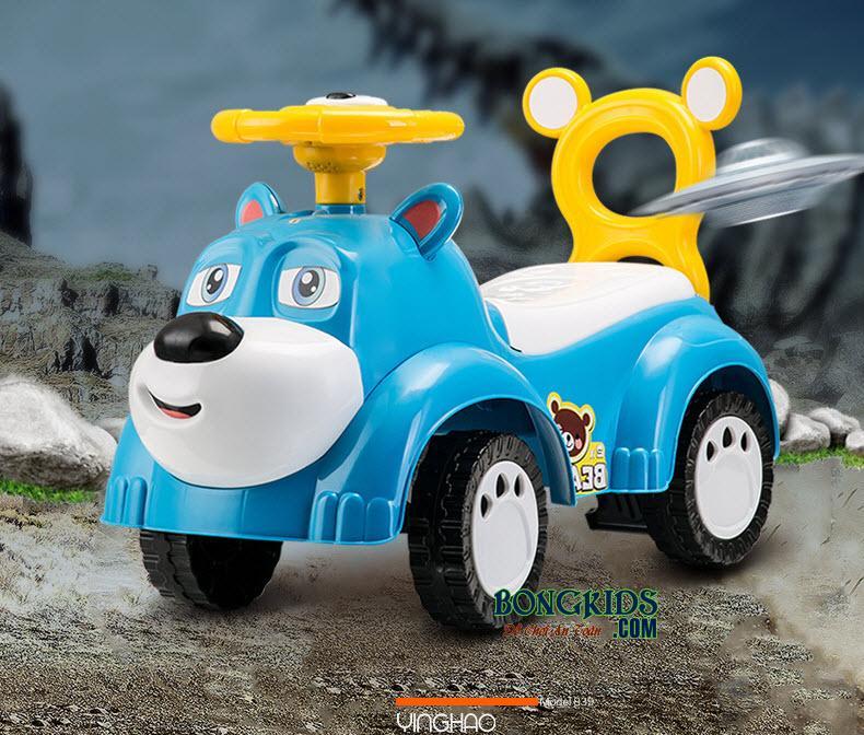 Xe chòi chân trẻ em -856 màu xanh