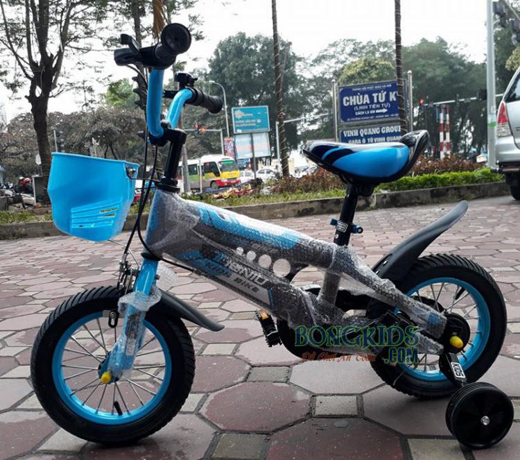 Xe đạp trẻ em Thiết ngưu màu xanh