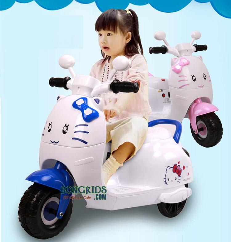 Xe máy điện trẻ em Vespa Kitty KL-6588 màu xanh