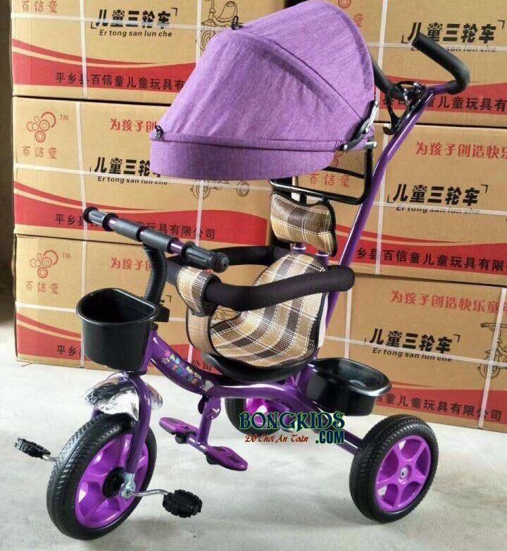 Xe 3 bánh trẻ em 6666 - màu tím