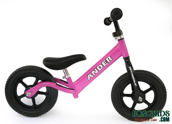 Xe thăng bằng cho bé Ander Basic màu hồng