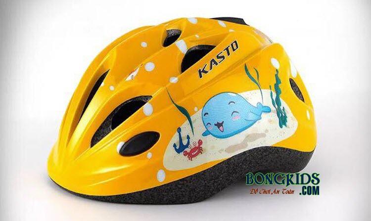Mũ bảo hiểm cho bé Kasto màu vàng