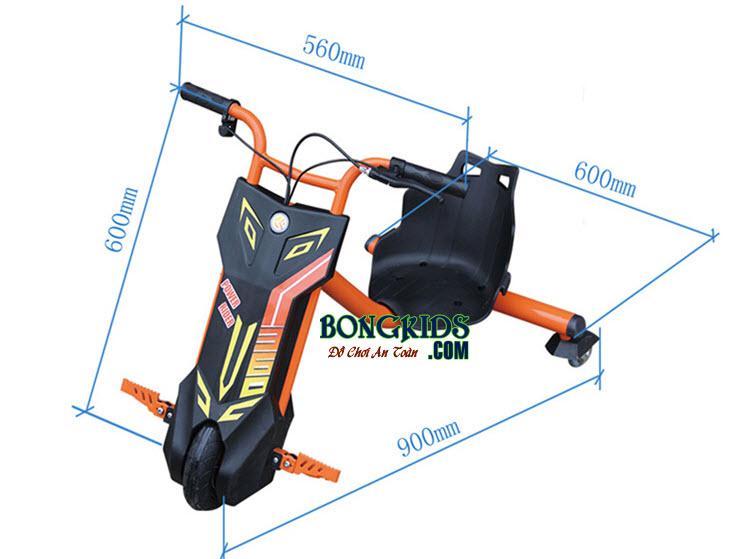 Xe 3 bánh điện trẻ em Drift HL-D02