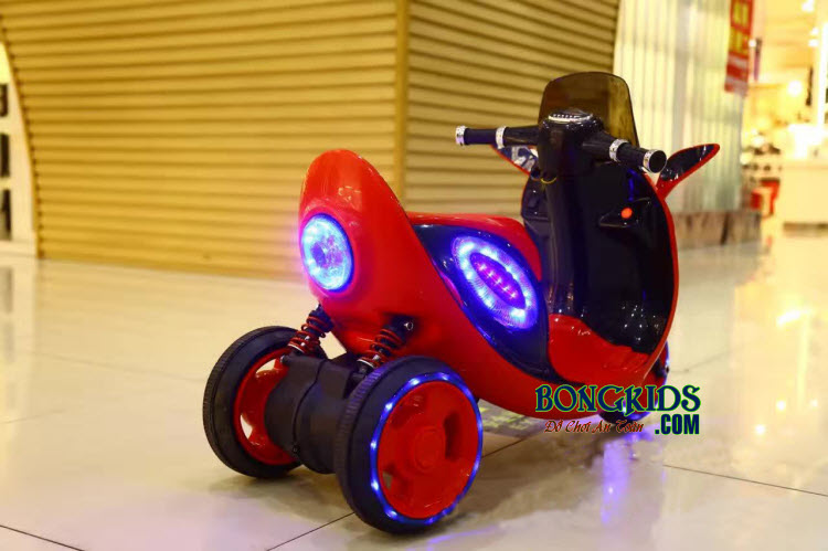 Xe máy mô tô điện trẻ em 808 màu đỏ 2