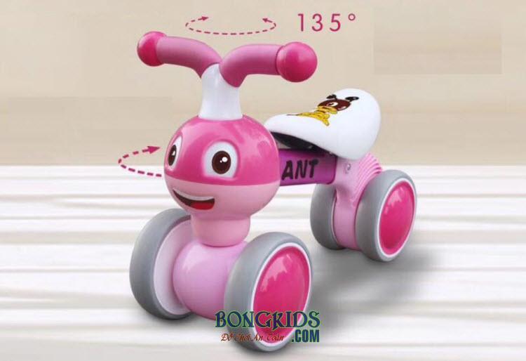 Xe chòi chân cho bé BP-201 màu hồng