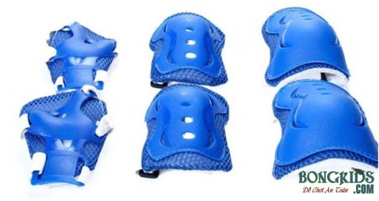 Bộ bảo vệ tay chân cho bé màu xanh