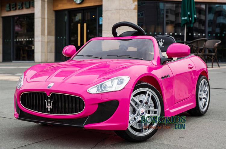 Xe hơi điện trẻ em Maserati CT-528 màu hồng