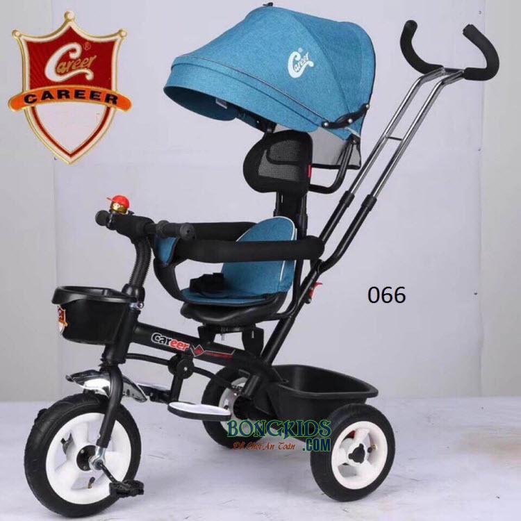 Xe đạp 3 bánh trẻ em 066 màu xanh nhạt