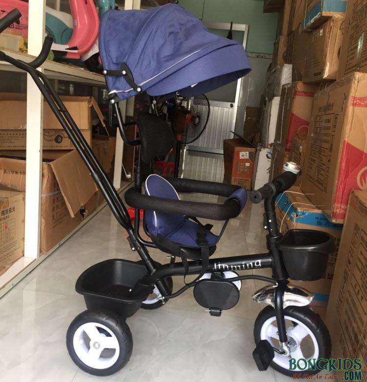 Xe đạp 3 bánh trẻ em 066 màu xanh đậm