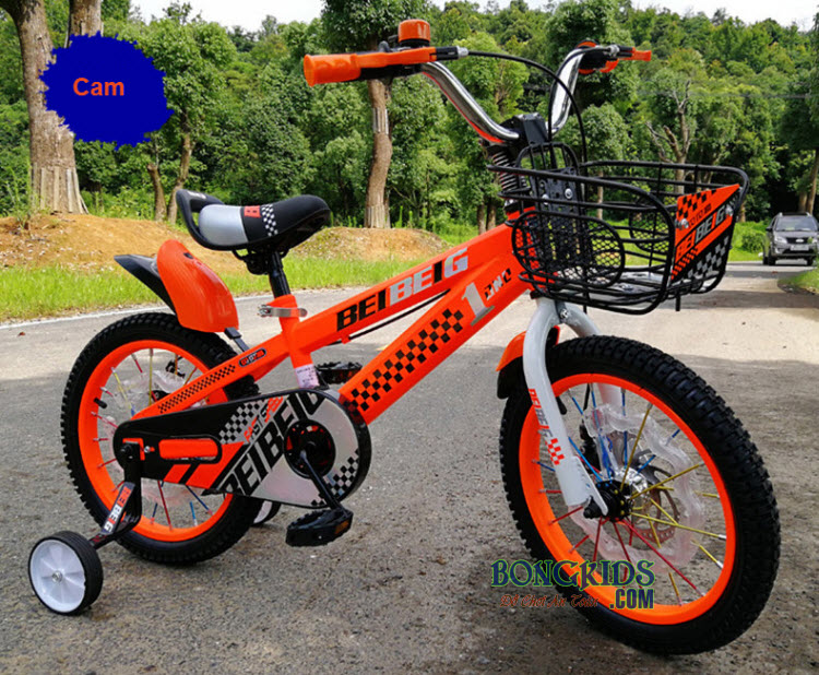 Xe đạp trẻ em BeibeiG 1203 1403 1603 cam