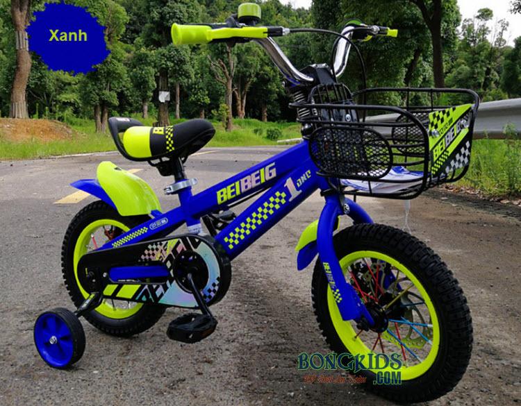 Xe đạp trẻ em BeibeiG 1203 1403 1603 xanh