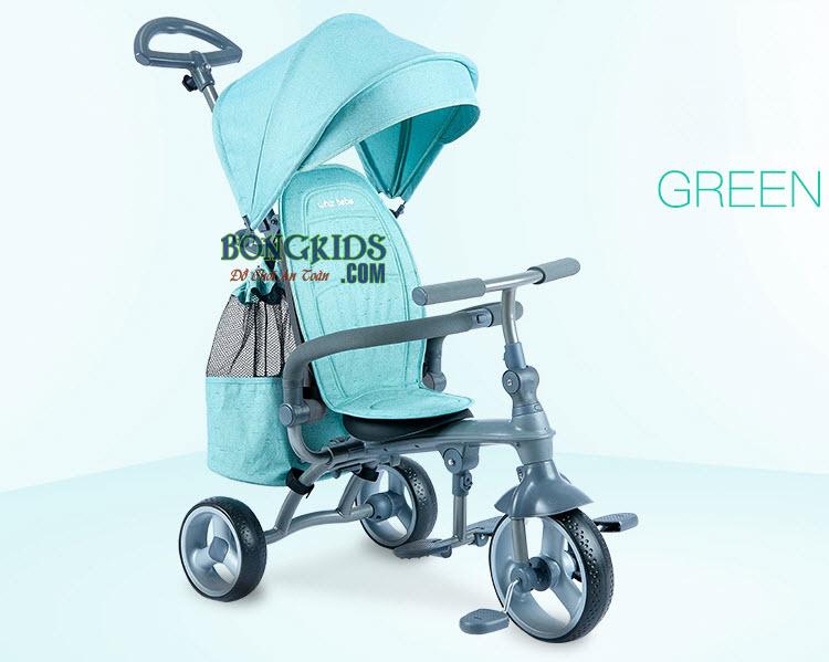 Xe đạp 3 bánh trẻ em cao cấp HSR-199 màu xanh