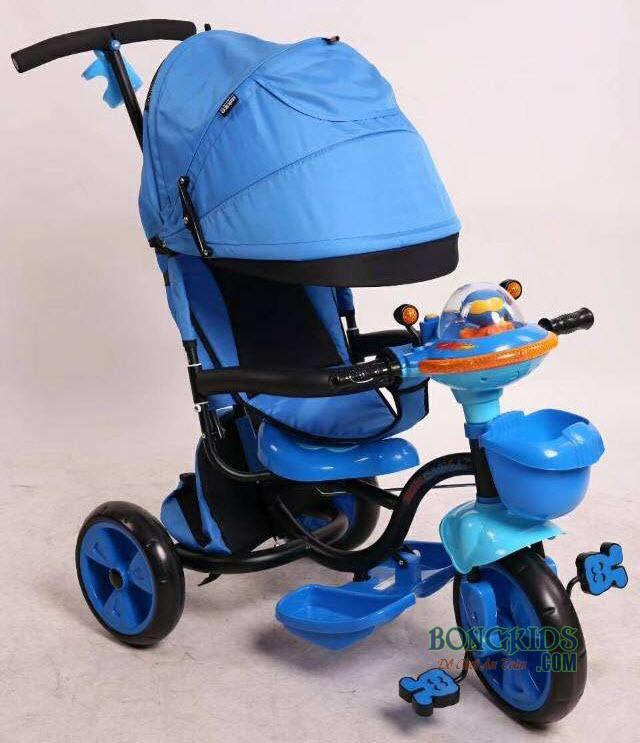 Xe đạp 3 bánh trẻ em FK-007 màu xanh