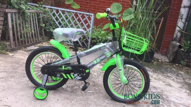 Xe đạp trẻ em Phoenix màu xanh lá