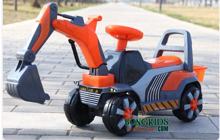 Xe cần cẩu cho bé JRT-168 màu cam