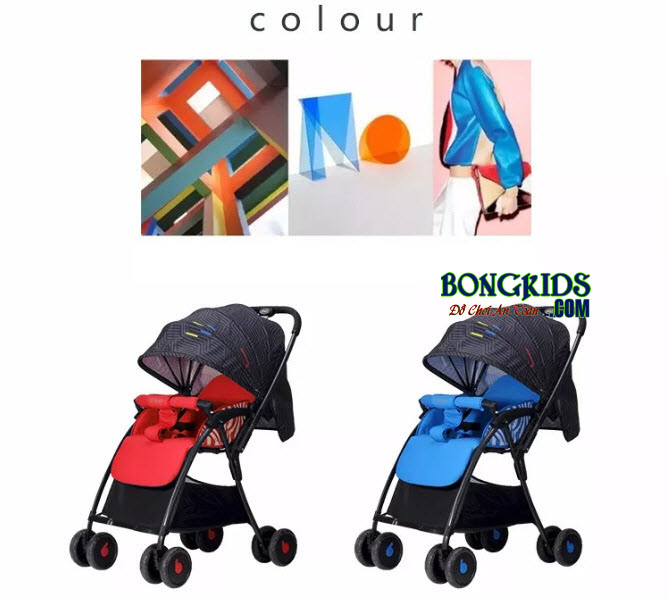 Xe đẩy cho bé Baobaohao 736S thiết kế vải siêu thoáng