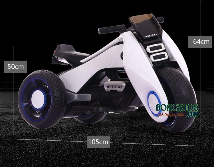 Kích thước xe máy điện trẻ em BDQ-6188