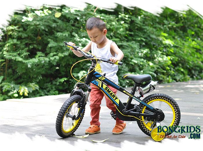 Xe đạp trẻ em Aier -99B màu vàng