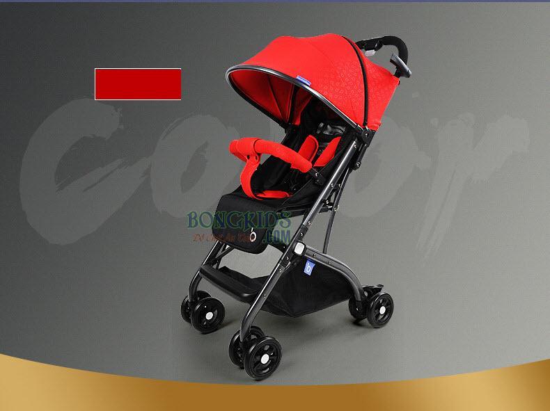 Xe đẩy cho bé cao cấp QZ1 màu đỏ