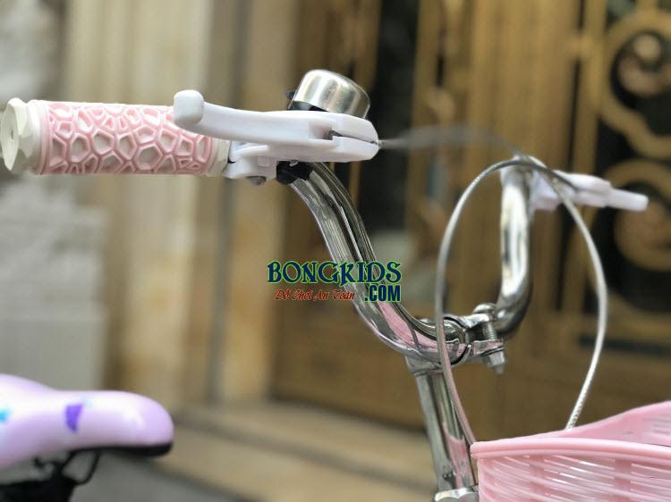 Xe đạp nàng tiên cá cho bé gái-158 tay lái mềm mại và hệ thống phanh an toàn