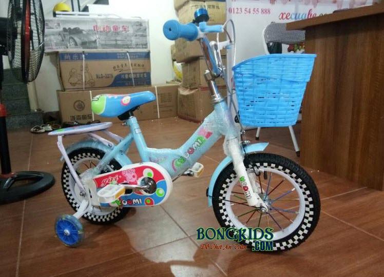 Xe đạp Youmi cho bé gái 66A màu xanh