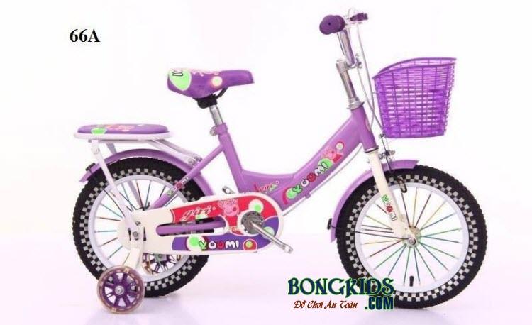Xe đạp Youmi cho bé gái 66A màu tím