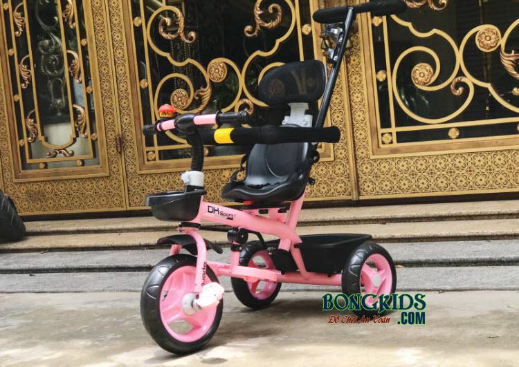 Xe đạp ba bánh trẻ em DKLS  262 màu hồng