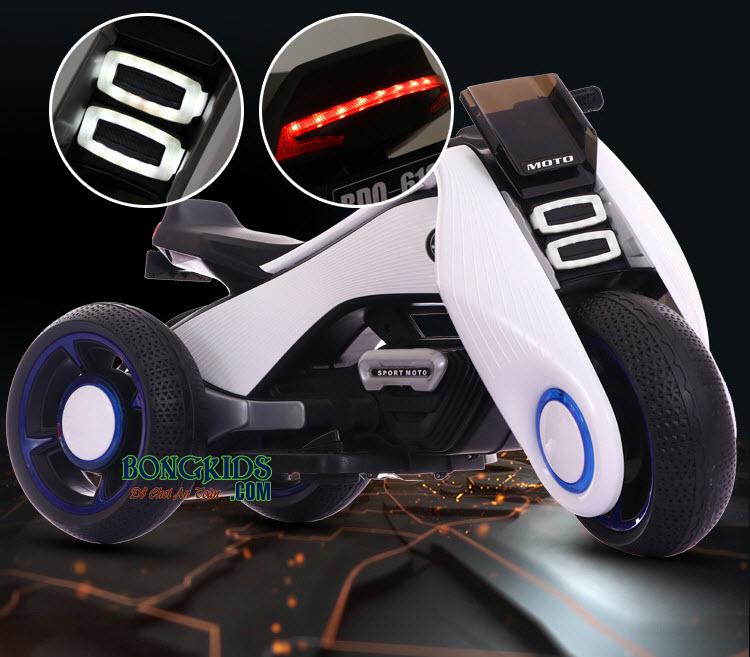 Xe máy điện trẻ em BDQ-6188 có nhiều màu cho mẹ và bé lựa chọn
