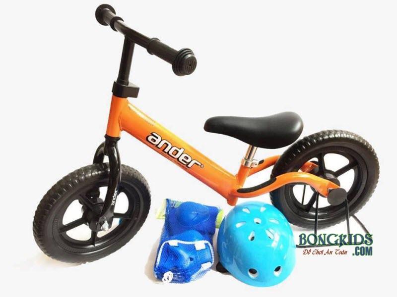 Combo xe thăng bằng Ander Basic màu cam & phụ kiện
