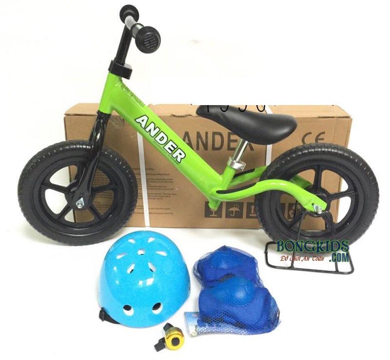 Combo xe thăng bằng Ander Basic màu xanh lá & phụ kiện