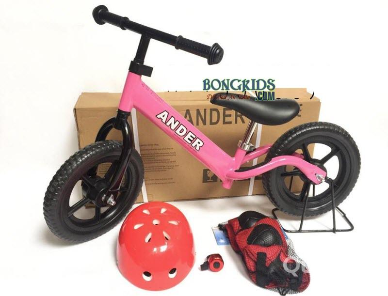 Combo xe thăng bằng Ander Basic màu hồng & phụ kiện