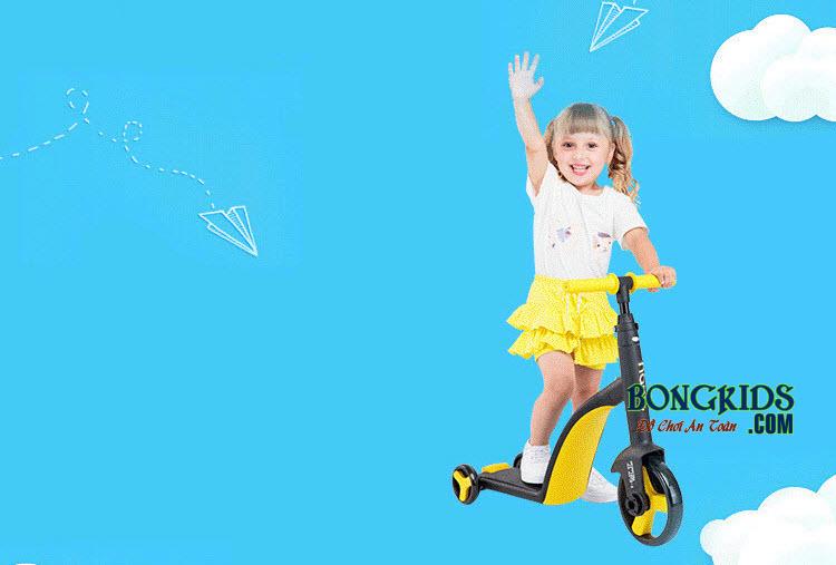 Xe trượt Scooer 3 in 1 Nadle màu vàng