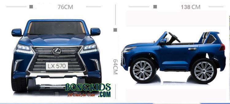 Kích thước xe ô tô điện trẻ em Lx-570