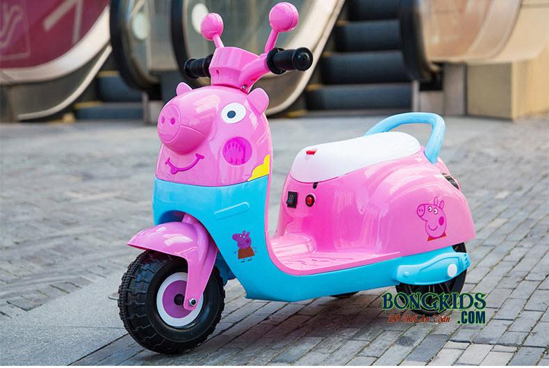 Xe máy điện trẻ em KL6588-2 màu xanh