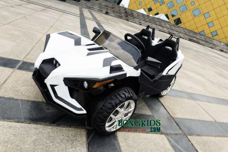 Xe ô tô điện trẻ em Mpappe-JC 888 màu trắng