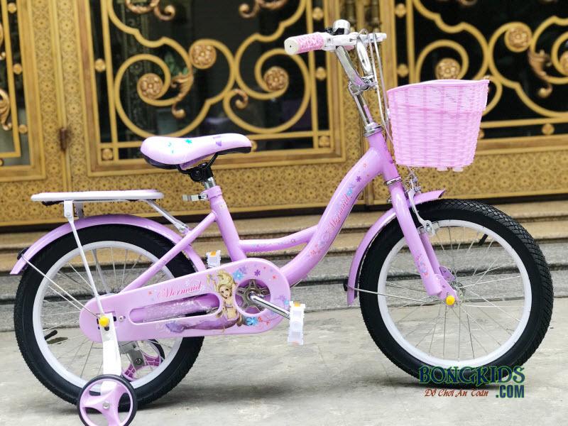 Xe đạp nàng tiên cá màu tím