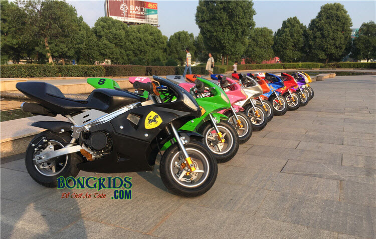 Xe máy chạy xăng thể thao trẻ em là chiếc xe thỏa mãn đma xe lái xe của bé