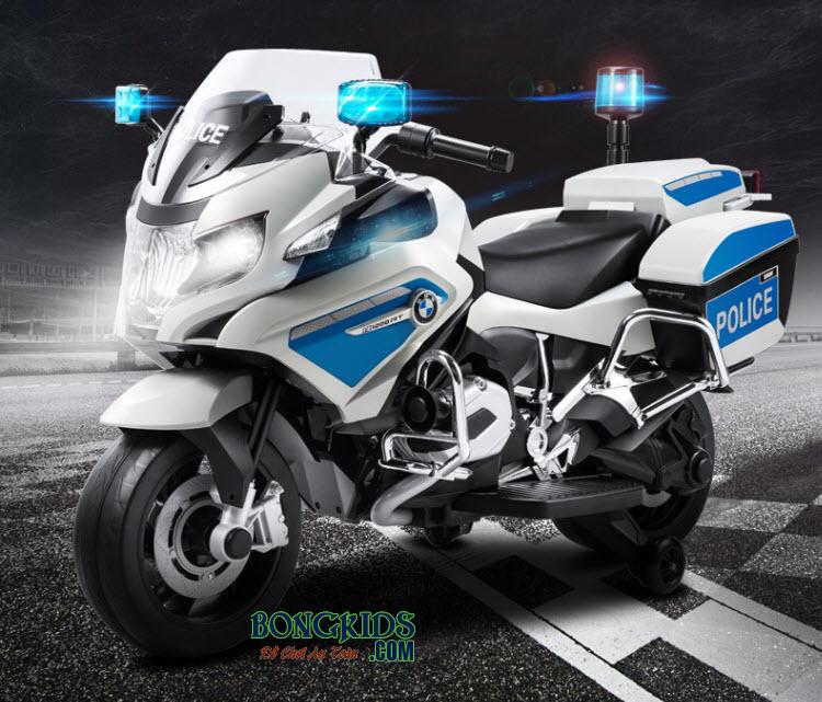 Xe máy điện trẻ em cảnh sát 212 màu trắng