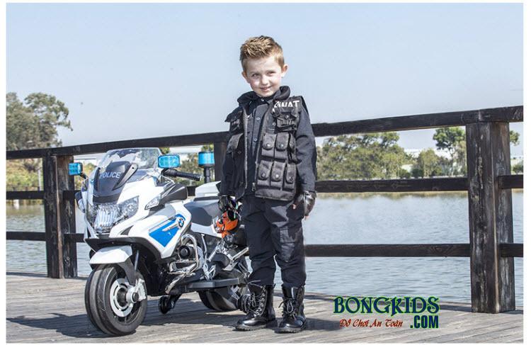 Xe máy điện trẻ em cảnh sát 212