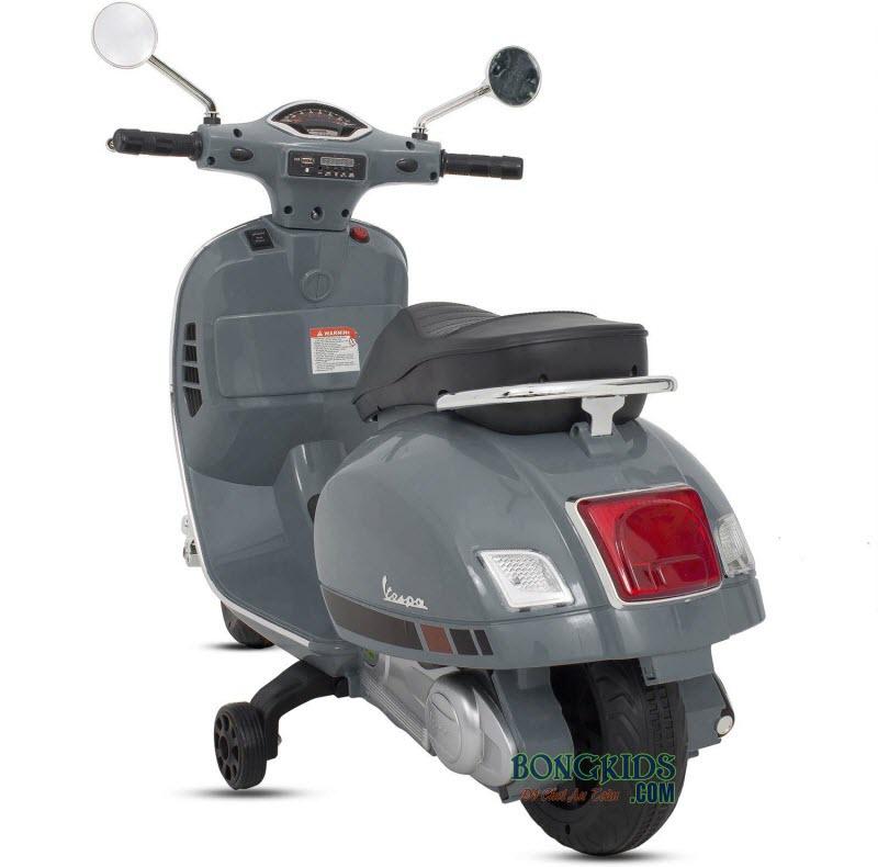 Xe máy điện trẻ em Vespa Q168 màu xám