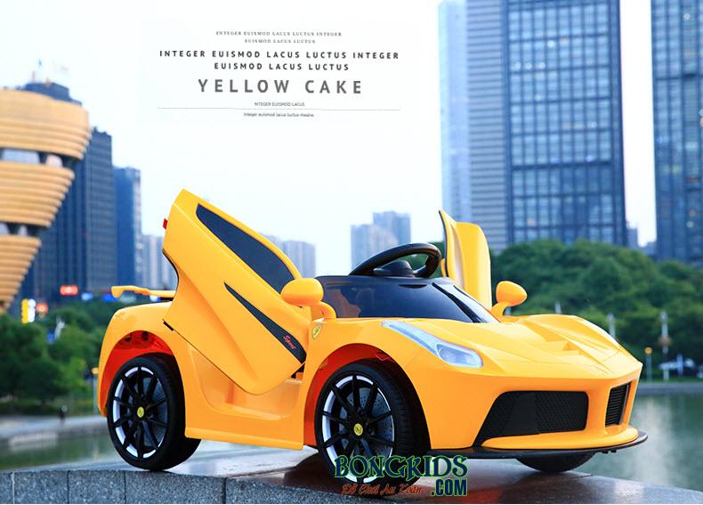 Xe ô tô điện trẻ em Ferrari LYD-1806 màu vàng