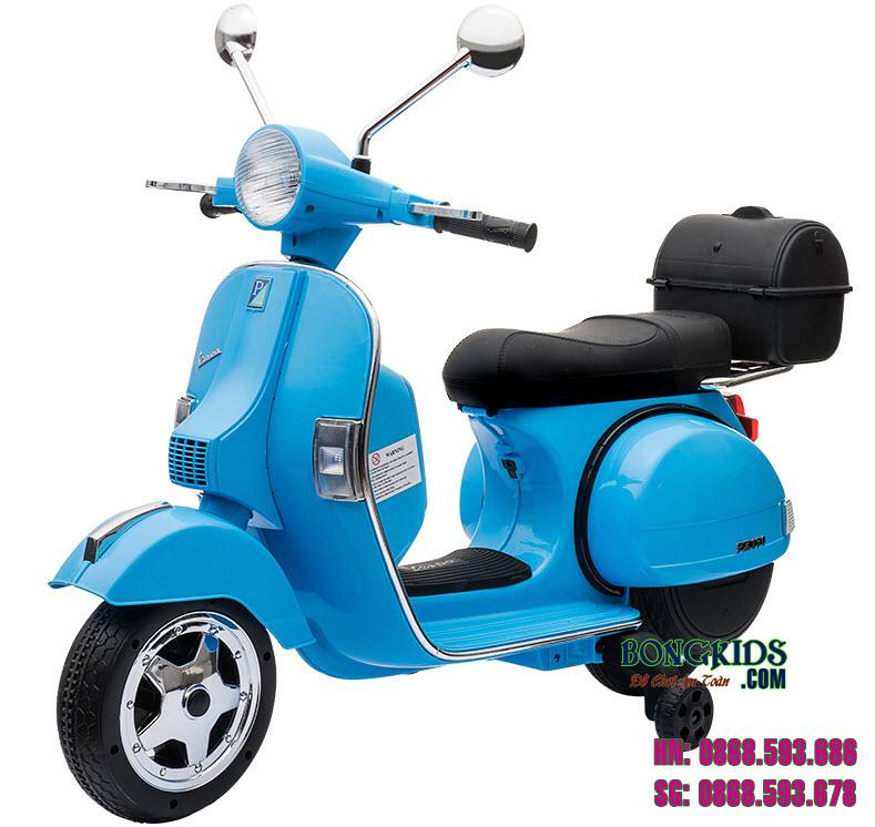 Xe máy điện trẻ em Vespa PX150 màu xanh