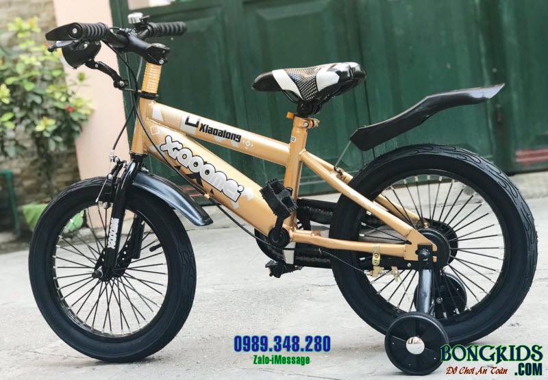 Xe đạp trẻ em XAL màu nâu vàng