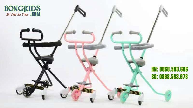 xe đẩy thông minh 3 màu sắc lựa chọn