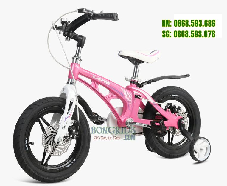 Xe đạp trẻ em LANQ 46 màu hồng điệu đà cho bé gái