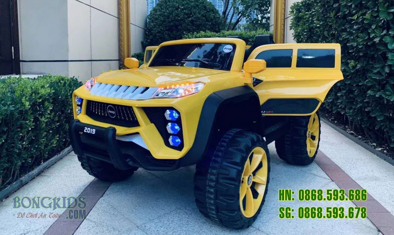Xe ô tô điện trẻ em BRJ-2019 màu vàng