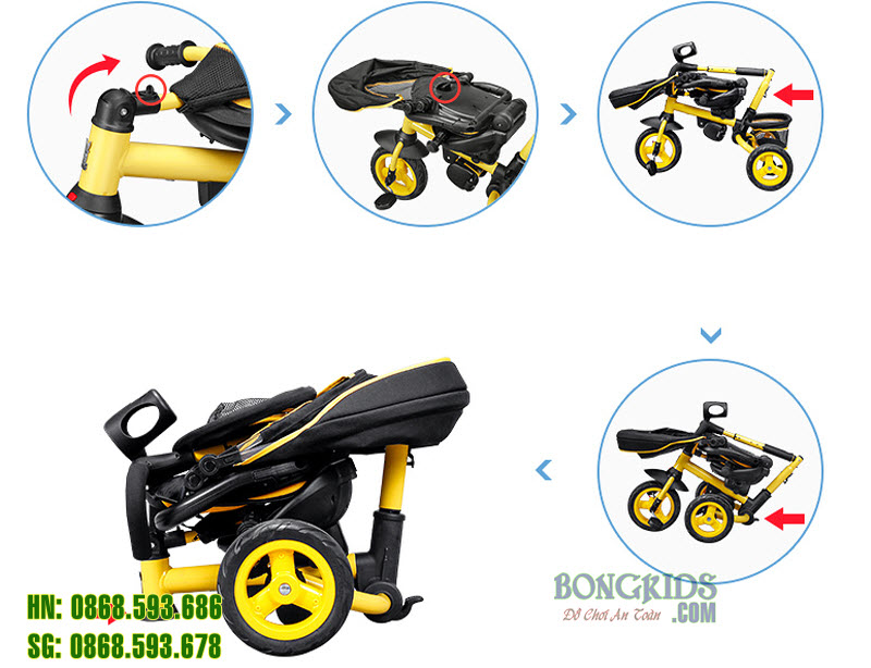 Xe 3 bánh trẻ em JY-T05-2