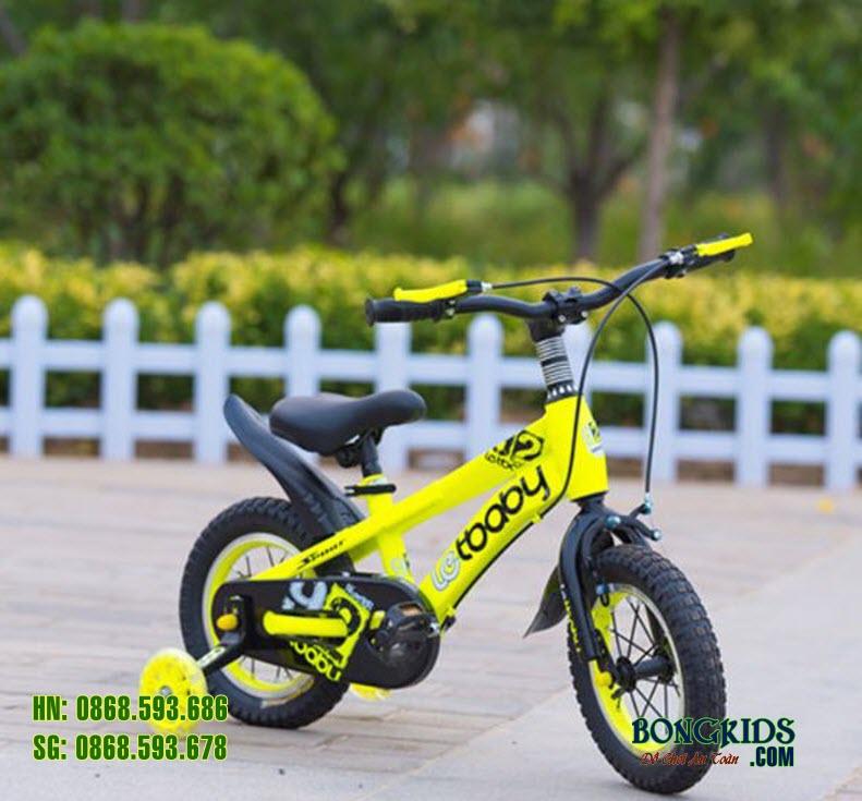 Xe đạp cho bé LETBABY màu vàng