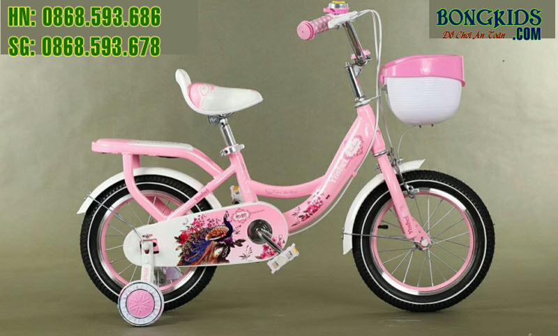 Xe đạp cho bé Youshibei màu hồng phấn