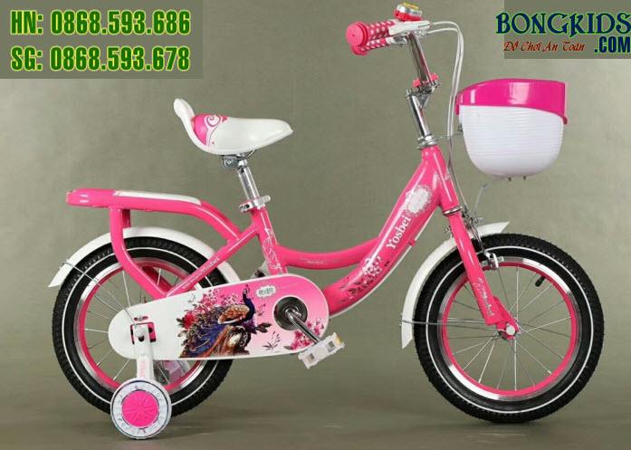 Xe đạp cho bé Youshibei màu hồng
